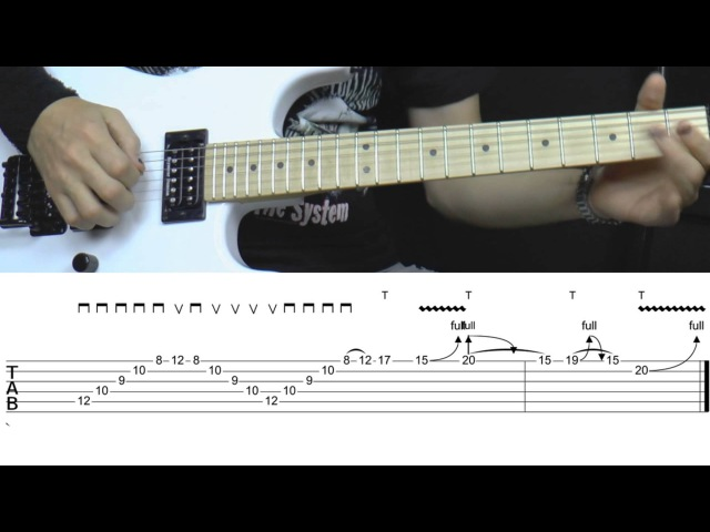 SHRED like HELL 6 guitar lick - Sweeping, tapping, bending