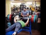 Мансур Пурмирзай(Иран) жмёт 270 кг на 2 повтора без экипировки в весовой категории 107+  спортсмен с ПОДА