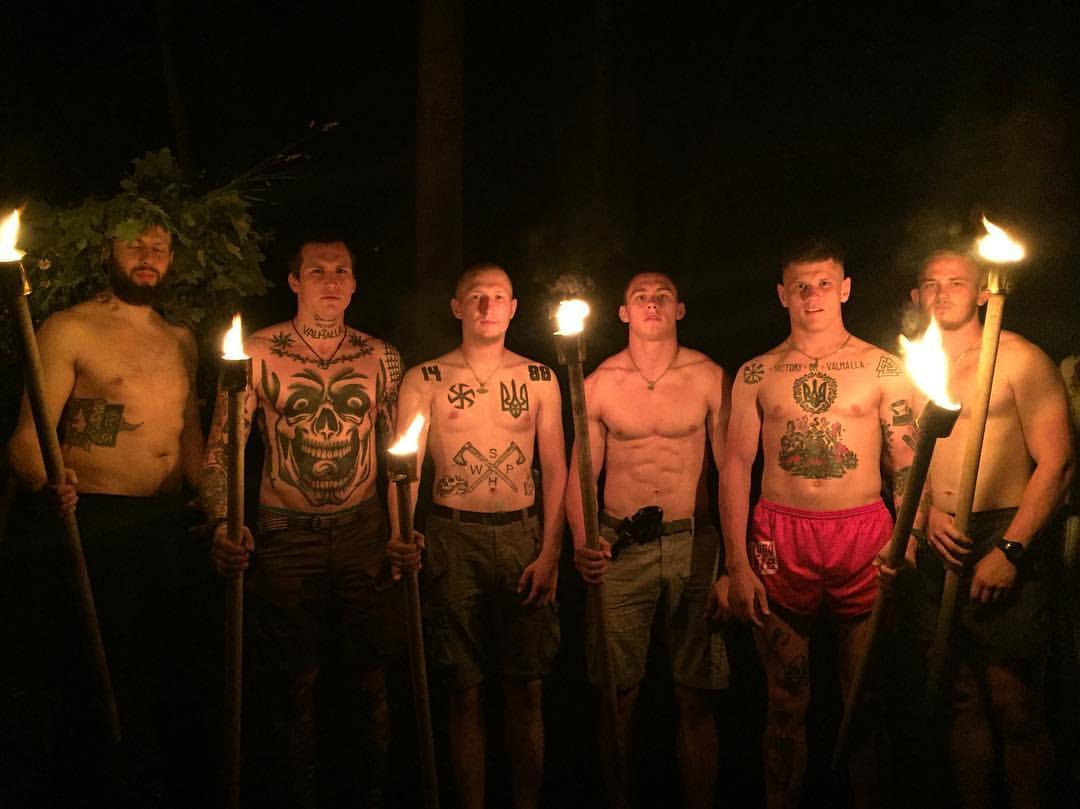 Татуировки активистов Национального корпуса (Азов) - 2