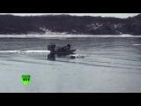 Спасение двух девочек с дрейфующей льдины в Амурском заливе