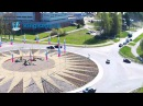 Веб-камера засняла момент ТАРАНА на кольце. Видео ломающего забор ДТП в Кингисеппе. KINGISEPP