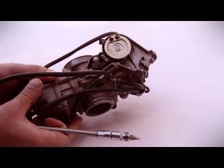 Как убрать провал при отстройке карбюратора KEIHIN FCR 39 MX