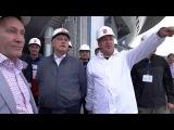 Георгий Полтавченко посетил строительство стадиона на Крестовском
