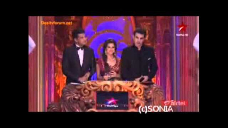 SamirBarun winning the ITA Best Actor Award