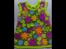 Irish lace Уроки вязания крючком ирландского кружева Детское платье 6йУрок Вязание листочка