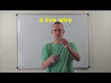 Learn English Daily Easy English 0856 a live wire