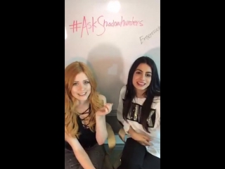 Emeraude Toubia and Kat McNamara periscope livechat with the fans
