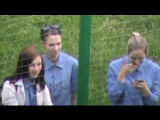 Скрытая видеосъёмка Женская колония Спец девушки Отряд школьницы Зона