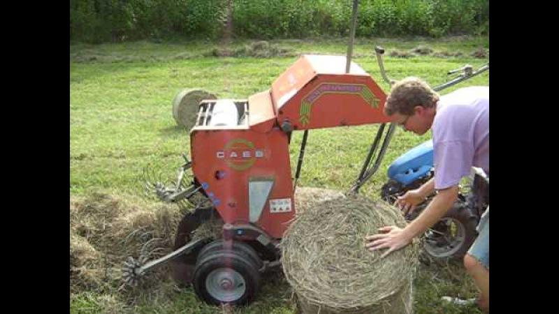 BCS Model 853 walk-behind tractor with CAEB mini-haybaler » Freewka.com - Смотреть онлайн в хорощем качестве