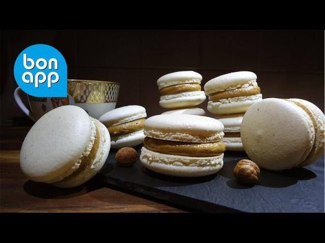 Макарон из лесного ореха с кофейной начинкой. Macarons noisette café