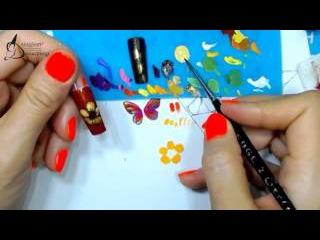 Вебинар Жостово часть 9, Подготовка к уроку в Мастергруппе, обучение жостовской росписи ногтей