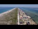 Южная коса Крым кооперативы Черноморец и Нептун между Черным морем и озером Донузлав с высоты 2015