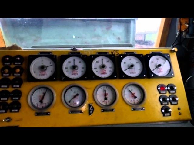 Кабіна та машинне електровозу постійного струму ВЛ11М5-475 ст.Синельникове-1
