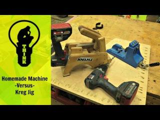 Pocket hole machine shoot out! Homemade -VS- Kreg Jig pocket hole machine shoot out! homemade -vs- kreg jig