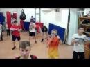 Школа бокса и кикбоксинга Андрея Рябченка (отработка ударов с гантелями)
