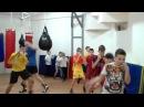 Школа бокса и кикбоксинга Андрея Рябченка (отработка ударов сайд-стэпом)