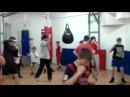Школа бокса и кикбоксинга Андрея Рябченка (отработка ударов с гантелями 2)