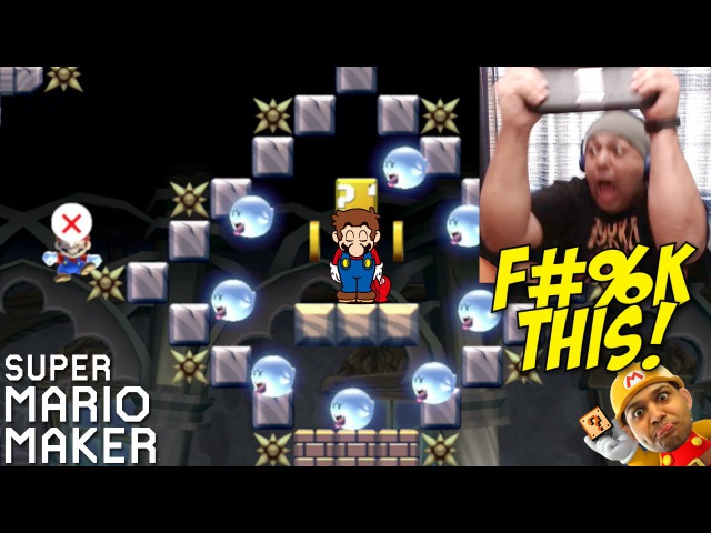 F%KING F%K SHT BTCH!! [SUPER MARIO MAKER] [24]