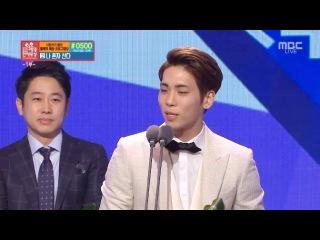 151229 MBC 연예대상 샤이니 종현 수상 소감 (라디오 우수상)