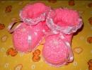 Пинетки Праздничные - 2 часть - Crochet baby's bootees - вязание крючком
