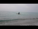 1-й выход в море на каяке