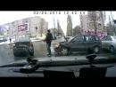 ДТП на Остужева у Линии попытка бегства водителя