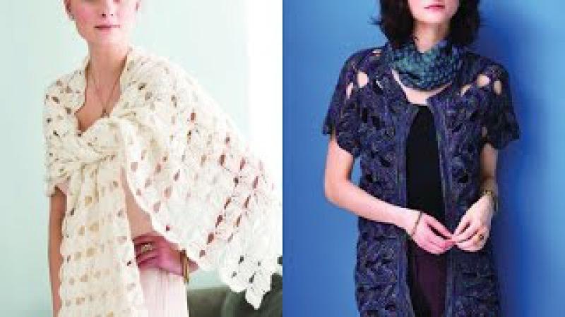 Tutorial for Leaf Morif Wrap, Vogue Knitting Spring/Summer 2016 3 5 Open Front Cardigan