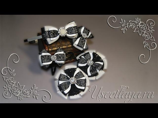 Как сделать комплект бантиков в школу/ DIY, set of bows to school