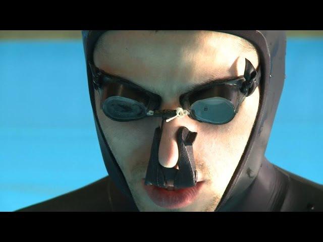 24min 3sec Guinness World Record longest apnea with O2 by Aleix Segura