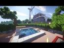 РАЙСКИЙ ОТДЫХ в майнкрафт - Бассейн в доме - Серия 37 - Minecraft - Строительный креатив 2