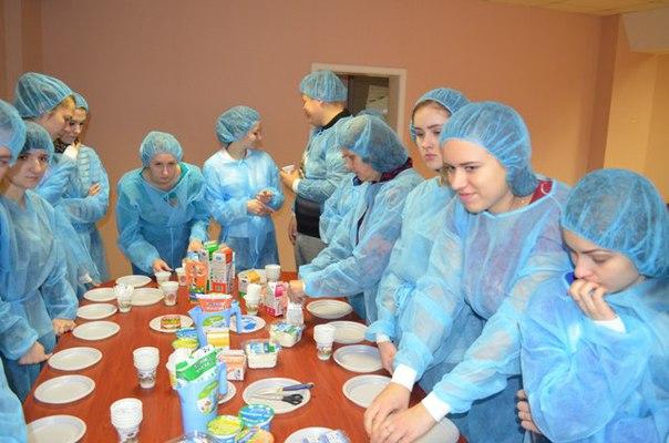 Посещение Псковского молочного завода  3 декабря 2015 г. студенты груп