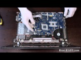 Packard Bell EasyNote NEW90 F3085 disassembling and fan cleaning, разборка и чистка ноутбука