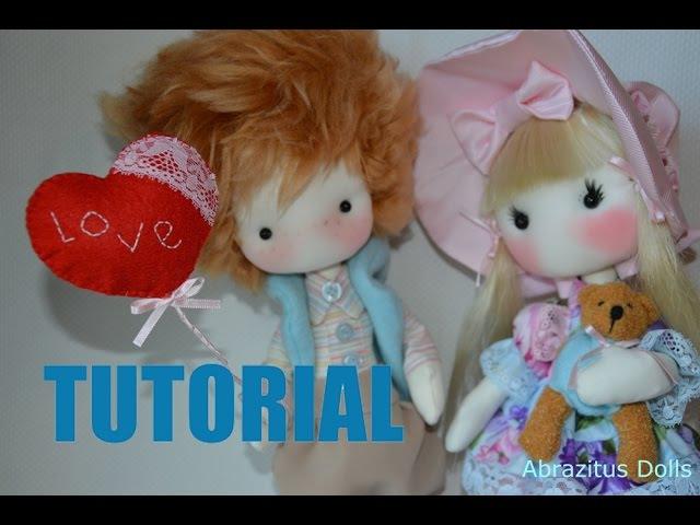Vídeo Tutorial completo - Pareja San Valentín, dolls, bonecos, muñeca tela