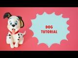 how to make dalmatian dog cake topper fondant - tutorial carica dei 101 torta pasta di zucchero