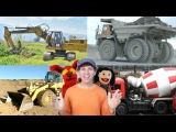 Learn  Construction Vehicles Song | Real Dump Truck, Bulldozer, Excavator | Learn English Kids