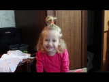 Ариша(2,5 года) Стих про снеговика)