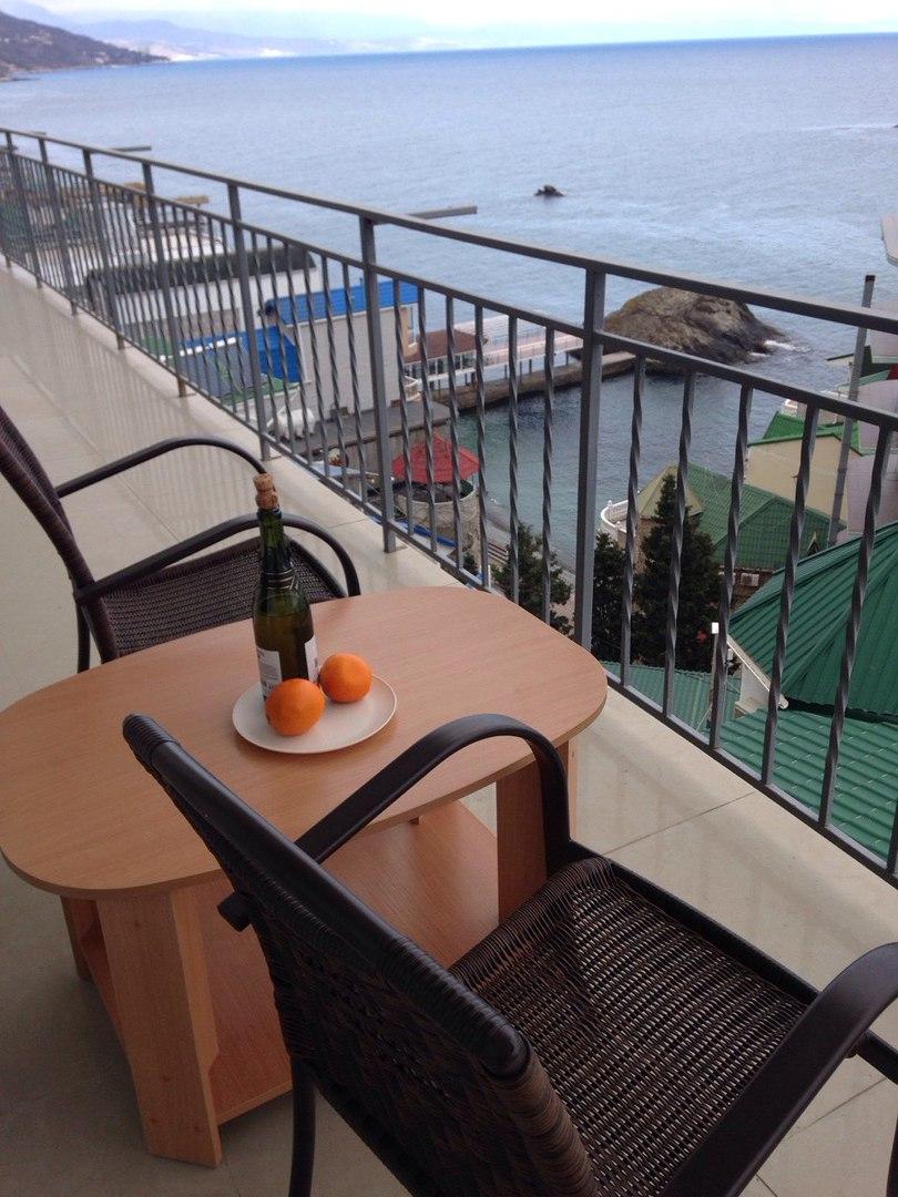 Вид с балкона гостиницы.