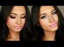 Яркий макияж запрос ✿ Brown-blue eyes pink lips