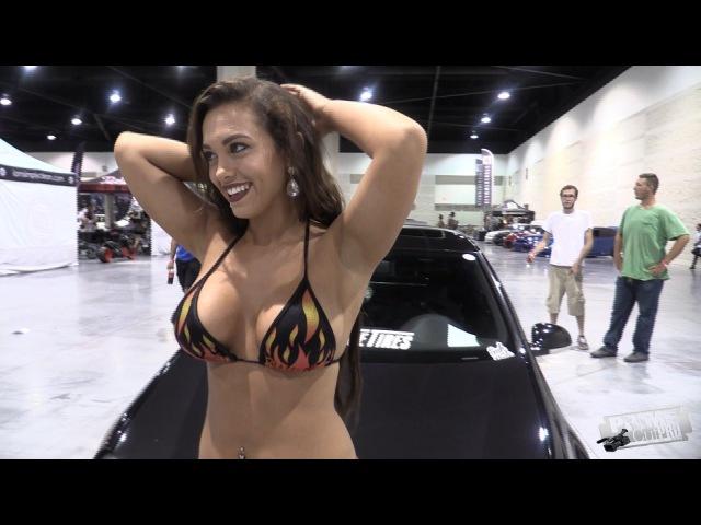 HOT Bikini Model at Car Show - Amber Fields