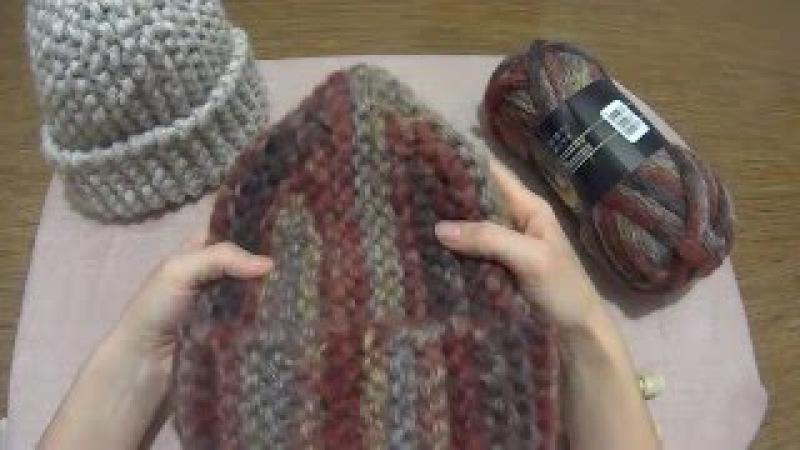 Вяжем модную шапку за час спицами