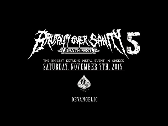 Devangelic - Eucharistic Savagery [Live at Brutality Over Sanity 2015 Greece]
