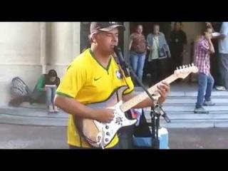William Lee - Artista de rua brasileiro - 2014 (Dire Straits - Sultans Of Swing)