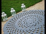 Вязаные ковры из шнура