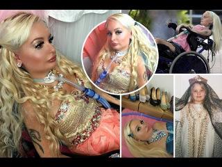 Парализованная финка тратит тысячи долларов на макияж и наряды, чтобы быть похо ...