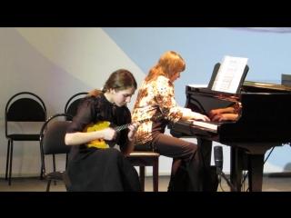 И. Тамарин: концерт для домры с оркестром 2,3 части.