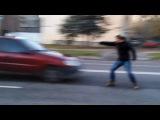 [WTF?] Як чувак машину зупиняв - You shall not pass (stop car)