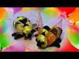 Пчела Канзаши Мастер класс, пчелка из ленточек Kanzashi , DIY crafts ideas