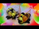 Пчела Канзаши Мастер класс, пчелка из ленточек / Kanzashi , DIY crafts ideas