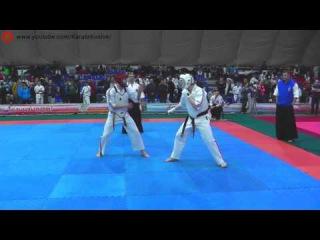 Захаров В.  Громов П. Круговой финал, бой №1 М. 82кг. Чемпионат по каратэ SIBERIA OPEN  2016