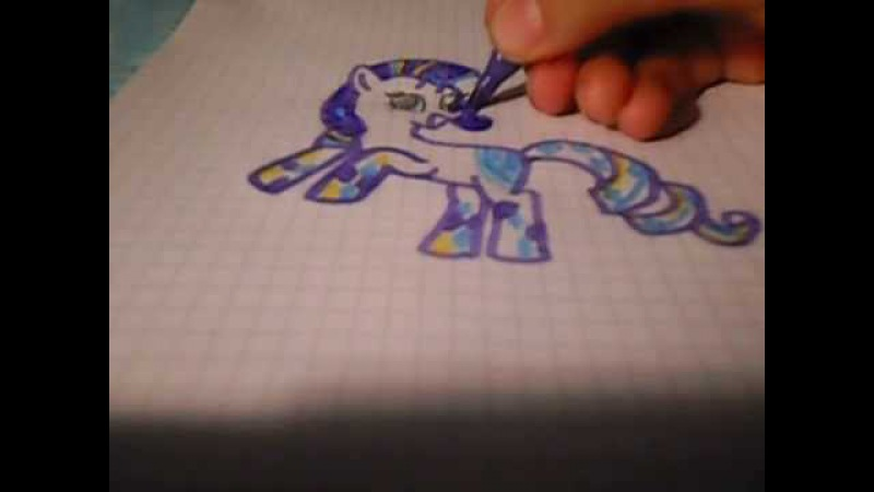 Как нарисовать пони Рарити Рейнбоу рок!Конкурс!